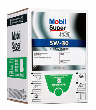 Mobil Super™ 3000 XE 5W-30 BAG in BOXX 1x20 Liter